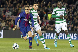 December 5, 2017 - Barcelona, Catalonia, Spain - Denis Suarez of Barcelona during the UEFA Champions League match between FC Barcelona and Sporting CP Lisboa at the Camp Nou Stadium in Barcelona, Catalonia, Spain on December 5,2017  (Credit Image: © Miquel Llop/NurPhoto via ZUMA Press)