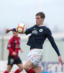 Falkirk's Jordan White..Falkirk 3 v 0 Queen of the South, 25/2/2012..© Michael Schofield.