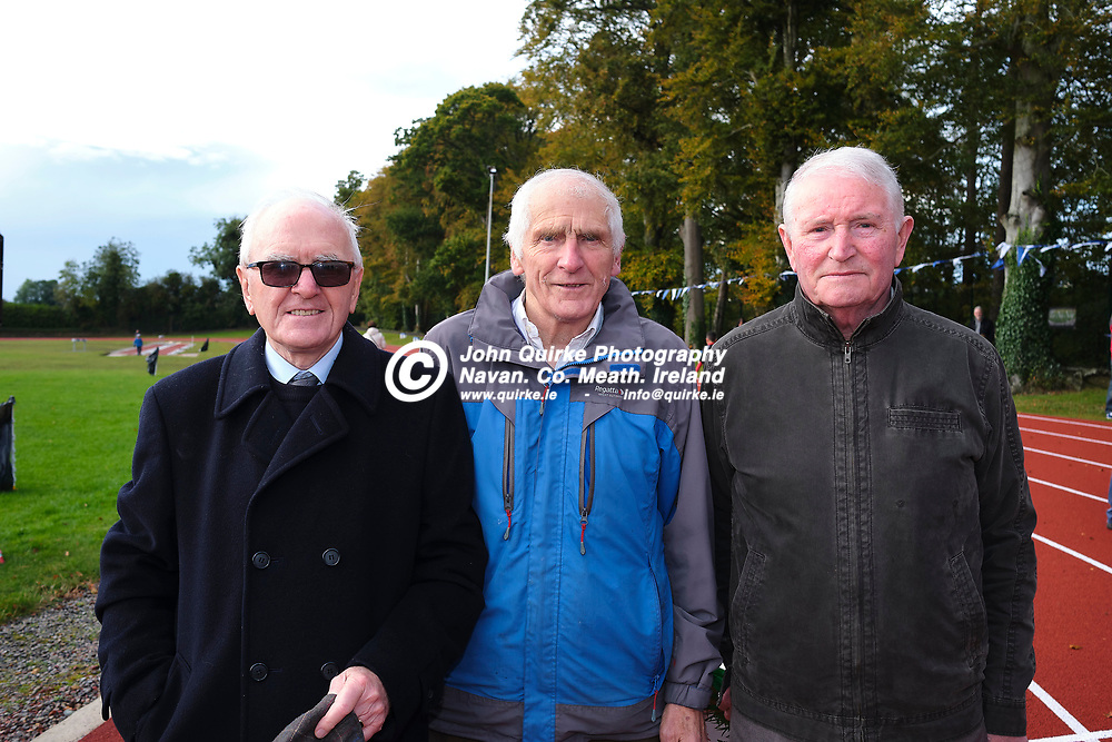 19/10/2019, Official opening of Dunboyne AC Track & facility<br /> Pictured at the opening were L-R, Pat Howlett, Seamus Brady & Sean Conroy<br /> Photo: David Mullen / www.quirke.ie ©John Quirke Photography, Unit 17, Blackcastle Shopping Cte. Navan. Co. Meath. 046-9079044 / 087-2579454.<br /> ISO: 400; Shutter: 1/250; Aperture: 6.4; <br /> File Size: 55.2MB