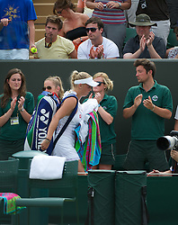 27.06.2011, Wimbledon, London, GBR, WTA Tour, Wimbledon Tennis Championships, im Bild Caroline Wozniacki (DEN), the number one seed, leaved the court after being defeated during the Ladies' Singles 4th Round match on day seven of the Wimbledon Lawn Tennis Championships at the All England Lawn Tennis and Croquet Club. EXPA Pictures © 2011, PhotoCredit: EXPA/ Propaganda/ David Rawcliffe +++++ ATTENTION - OUT OF ENGLAND/UK +++++ // SPORTIDA PHOTO AGENCY