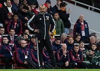 Football - 2019 / 2020 Premier League - Arsenal vs. Wolverhampton Wanderers<br /> <br /> Nuno Esoirito Santo, Manager of Wolverhampton Wanderers, looks down as his team concede a goal at The Emirates Stadium.<br /> <br /> COLORSPORT/DANIEL BEARHAM
