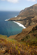 Brava's coast is very scenic featuring many bays and cliffs.