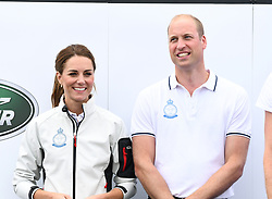 The Duke and Duchess of Cambridge at The King's Cup Regatta, Cowes, Isle of Wight. Photo credit should read: Doug Peters/EMPICS