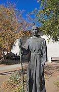 Father Junipero Serra Statue at the Mission San Miguel