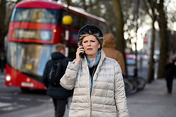© Licensed to London News Pictures. 16/01/2018. London, UK. Pro-remain Conservative MP Anna Soubry is seen walking through Westminster. Photo credit : Tom Nicholson/LNP