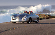 Randy Wells, Seattle, Santa Barbara, Car, Photographer, Automotive, Photography, Image of a silver 356 Speedster in Carmel, California, America west coast by Randy Wells-california-car-photographer-randy-wells-automotive-videographer-filmmaker-cinematographer-storyteller-writer-location-and-studio-specialist, Image of a silver 1958 Custom Porsche 356 Speedster in Monterey, California, America west coast, model and property released