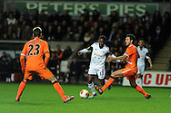 Swansea city's Nathan Dyer © . UEFA Europa league match, Swansea city v Valencia at the Liberty Stadium in Swansea on Thursday 28th November 2013. pic by Andrew Orchard, Andrew Orchard sports photography,