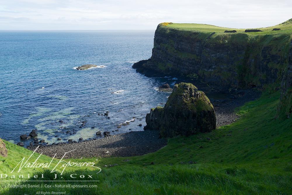 The coastline in northern Ireland.