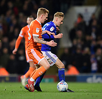 Blackpool's Callum Guy vies for possession with Ipswich Town's Flynn Downes<br /> <br /> Photographer Chris Vaughan/CameraSport<br /> <br /> The EFL Sky Bet League One - Ipswich Town v Blackpool - Saturday 23rd November 2019 - Portman Road - Ipswich<br /> <br /> World Copyright © 2019 CameraSport. All rights reserved. 43 Linden Ave. Countesthorpe. Leicester. England. LE8 5PG - Tel: +44 (0) 116 277 4147 - admin@camerasport.com - www.camerasport.com