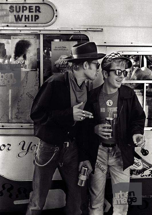 Joe Strummer and Paul Simonon The Clash - Notting Hill Carnival - 1990