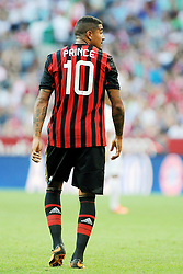 01.08.2013, Allianz Arena, Muenchen, Audi Cup 2013, FC Bayern Muenchen vs Manchester City, im Bild Audi Cup 2013 --- AC Mailand vs Sao Paulo --- Allianz Arena Muenchen, Spiel um Platz 3, 01.08.2013, Kevin-Prince BOATENG (AC Milan),Freisteller, Ganzkoerper, Ganzfigur, Einzelaktion, quer, querformat, horizontal, landscape, Aktion,, Rueckanischt // during the Audi Cup 2013 match between FC Bayern Muenchen and Manchester City at the Allianz Arena, Munich, Germany on 2013/08/01. EXPA Pictures © 2013, PhotoCredit: EXPA/ Eibner/ Wolfgang Stuetzle<br /> <br /> ***** ATTENTION - OUT OF GER *****