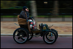 November 6, 2016 - London, London, United Kingdom - Image ©Licensed to i-Images Picture Agency. 06/11/2016. London, United Kingdom. ..The London to Brighton Veteran Car Run 2016...Matthew Wilson drives a 1900 Pieper Two-seater along the Mall in central London, UK, on the first leg of the journey from London to Brighton...Picture by Ben Stevens / i-Images (Credit Image: © Ben Stevens/i-Images via ZUMA Wire)
