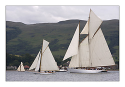 Gaffs and Schooners heading down Largs Channel with Oblio, Lucky Girl and Altair...The Round Cumbraes race at Larsg starting the 3rd Fife Regatta...* The Fife Yachts are one of the world's most prestigious group of Classic .yachts and this will be the third private regatta following the success of the 98, .and 03 events.  .A pilgrimage to their birthplace of these historic yachts, the 'Stradivarius' of .sail, from Scotland's pre-eminent yacht designer and builder, William Fife III, .on the Clyde 20th -27th June.   . ..More information is available on the website: www.fiferegatta.com . .Press office contact: 01475 689100         Lynda Melvin or Paul Jeffes