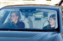 Sophie, Countess of Wessex and her daughter Lady Louise, arrive for the Queen's Christmas lunch at Buckingham Palace, London.