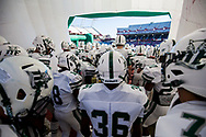 Dutch Fork Silver Foxes players enter the field before the game against the Dorman Cavaliers in the Class AAAAA State Championship Game at Williams-Brice Stadium in Columbia, SC. Dutch Fork wins their 4th straight state championship at Williams Brice Stadium. Photos ©JeffBlakePhoto.com