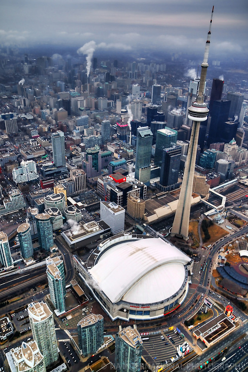 Aerial View, CN Tower & Rogers Centre