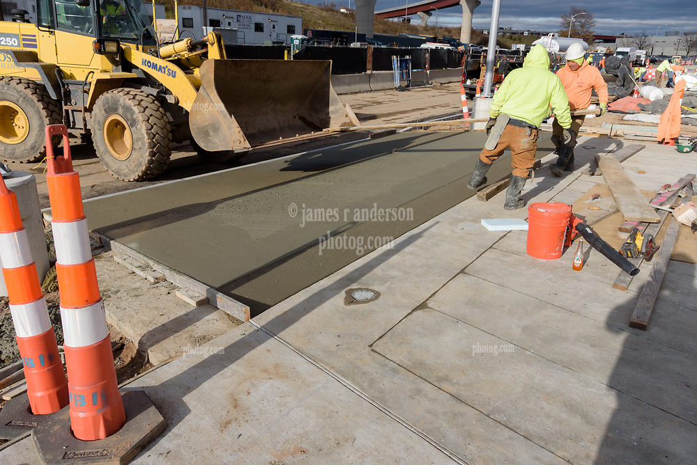 Boathouse at Canal Dock Phase II   State Project #92-570/92-674 Construction Progress Photo Documentation No. 17 on 1 December 2017. Image No. 05 Sidewalk and driveway apron pour