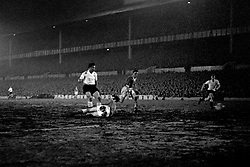File photo dated 03-02-1960 of Tottenham Hotspur's Bobby Smith scores the sixth goal of the game as Crewe Alexandra goalkeeper Dave Evans tries in vain to make the save