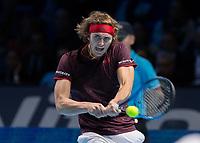 Tennis - 2017 Nitto ATP Finals at The O2 - Day Five<br /> <br /> Group Boris Becker Singles: Alexander Zverev (Germany) Vs Jack Sock (United States)<br /> <br /> Alexander Zverev (Germany) at the O2 Arena<br /> <br /> COLORSPORT/DANIEL BEARHAM