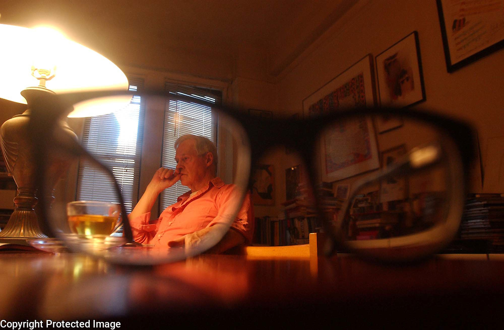 Ned Rorem is seen in his home in Manhattan, NY. Rorem is a composer and chronicler of the arts. He will be 80 this October 23rd. 2/20/2003 Photo by Jennifer S. Altman