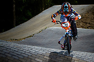 #75 (VAN BENTHEM Merle) NED at the 2014 UCI BMX Supercross World Cup in Berlin, Germany.