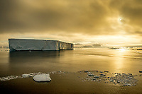 Evening in Antarctica with Iceberg
