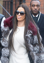 © Licensed to London News Pictures. 07/01/2019. Bromley, UK.Arriving at court sticking her tongue out. Former glamour model Katie Price appearing at Bromley Magistrates court charged with drink driving following her arrest on 10th October 2018 on Shooters Hill,Road,Woolwich.<br /> Photo credit: Grant Falvey/LNP