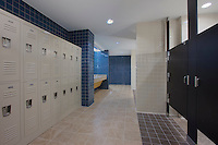 Architectural interior image of IDEA Charter School Locker Room by Jeffrey Sauers of Commercial Photographics