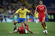 Philippe Coutinho of Brazil during the 2018 FIFA World Cup Russia, Group E football match between Erbia and Brazil on June 27, 2018 at Spartak Stadium in Moscow, Russia - Photo Thiago Bernardes / FramePhoto / ProSportsImages / DPPI