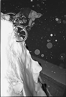 Andy Gregg riding a snowbank in Marquette, 1988.  Photo by Greg Potvin