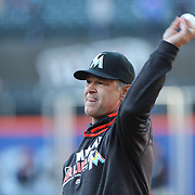 NEW YORK, NEW YORK - APRIL 12: Manager Don Mattingly, Miami Marlins, during practice before the Miami Marlins Vs New York Mets MLB regular season ball game at Citi Field on April 12, 2016 in New York City. (Photo by Tim Clayton/Corbis via Getty Images)