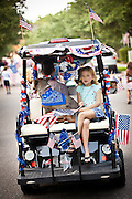 A young participant in the I'On Community 4th of July parade.