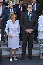 July 27, 2017 - Madrid, Spain - President Mariano Rajoy and Maria Teresa Campos attend the 'Medals to Merit in Work' delivery at Moncloa palace July 27, 2017 in Madrid, Spain. (Credit Image: © Oscar Gonzalez/NurPhoto via ZUMA Press)