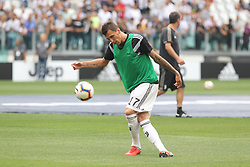 August 25, 2018 - Turin, Piedmont, Italy - Mario Mandzukic (Juventus FC) before the Serie A football match between Juventus FC and SS Lazio at Allianz Stadiumon august 25, 2018 in Turin, Italy. (Credit Image: © Massimiliano Ferraro/NurPhoto via ZUMA Press)