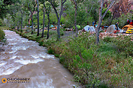 Campsites at Bright Angel Campgropund in Grand Canyon National Park, Arizona, USA