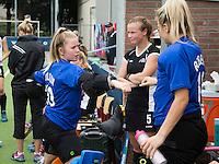 BREDA (Neth.)  Goallies of NZ, Ginny Wilson (l) and Brooke Roberts  during the match  New Zealand vs England U21 women . Volvo Invitational Tournament U21. COPYRIGHT KOEN SUYK