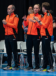 Ass. Coach Ekaterina Andryushina of Netherlands, Rinke van den Brink of Netherland, Ricardo Clarions of Netherlands during the Women's friendly match between Netherlands and Slovenia at De Maaspoort on march 19, 2021 in Den Bosch, Netherlands (Photo by RHF Agency/Ronald Hoogendoorn)