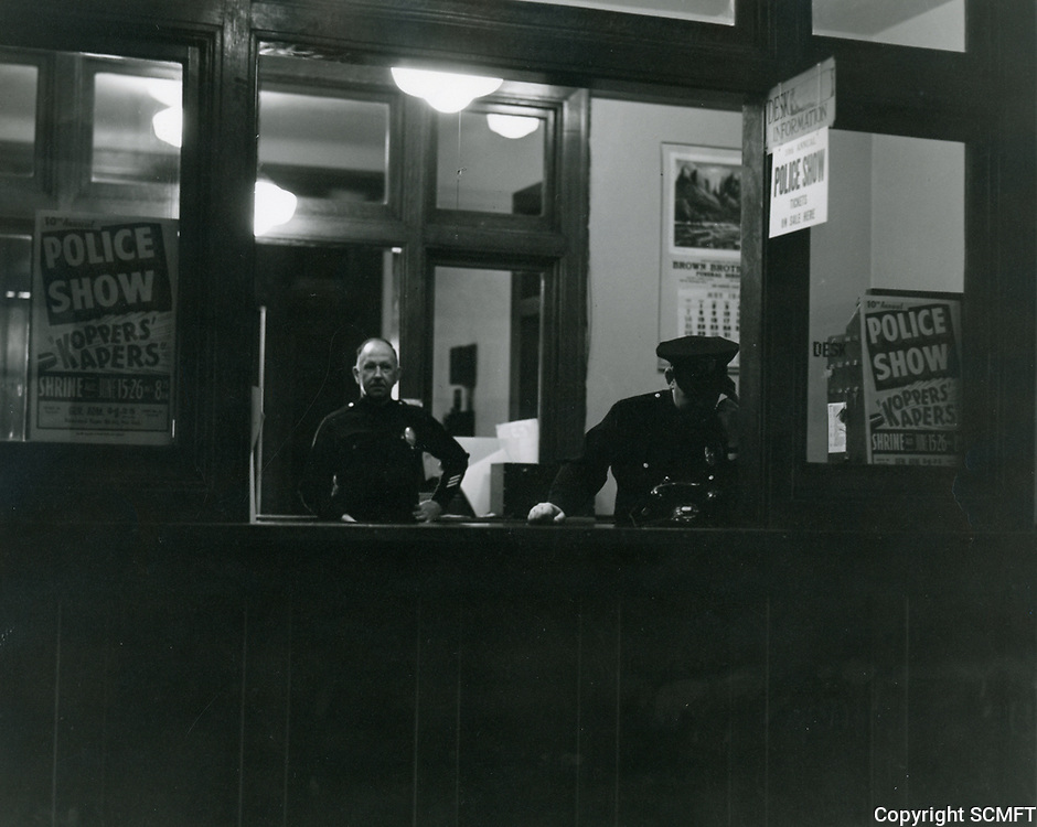 1944 Interior of the police Station on Wilcox Ave.