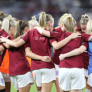 The Lionesses are seen during the first match of the 2020 She Believes Cup soccer tournament at Exploria Stadium on 5 March 2020 in Orlando, Florida USA.
