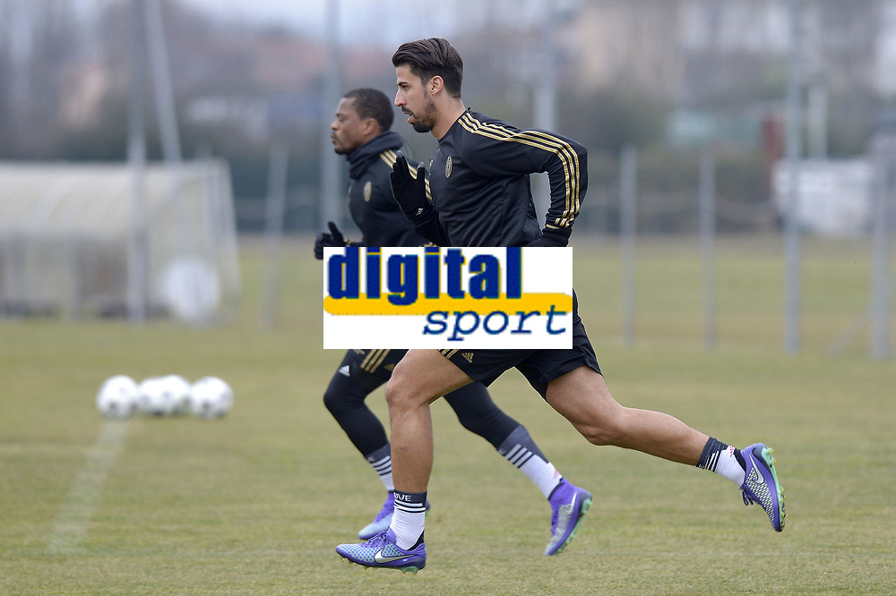 Sami Khedira <br /> Vinovo (Torino) 22-02-2016, Football Calcio 2015/2016, Champions League Juventus - Bayern Allenamento Training  <br /> Foto Filippo Alfero/Insidefoto