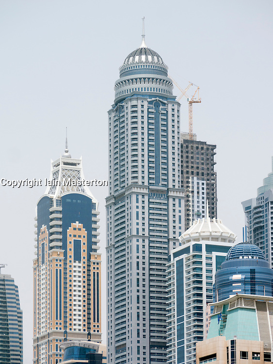 View of Princess Tower the world's tallest residential building in Dubai United Arab Emirates
