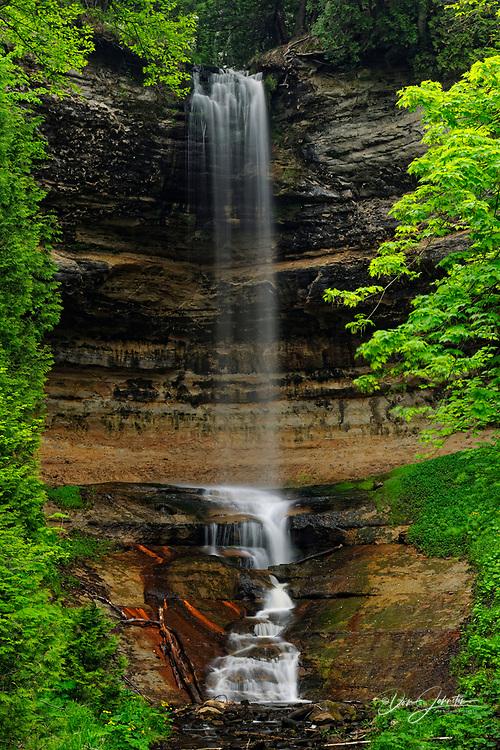 Munising Falls in spring, Munising, Michigan, USA