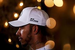 April 7, 2018 - Sakhir, Kingdom of Bahrain - LEWIS HAMILTON of Mercedes AMG Petronas Motorsport is seen after the 2018 FIA Formula 1 Bahrain Grand Prix qualifying session at Bahrain International Circuit in Sakhir, Kingdom of Bahrain. (Credit Image: © James Gasperotti via ZUMA Wire)