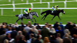 Viconte Du Noyer ridden by B.J.Cooper (left) during day two of the Showcase at Cheltenham Racecourse