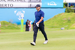 May 9, 2019 - Dallas, TX, U.S. - DALLAS, TX - MAY 09: Tony Romo walks up the 18th fairway during the first round of the AT&T Byron Nelson on May 9, 2019 at Trinity Forest Golf Club in Dallas, TX. (Photo by Andrew Dieb/Icon Sportswire) (Credit Image: © Andrew Dieb/Icon SMI via ZUMA Press)