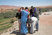 Tourists and hawkers, Tinerhir, Morocco, north Africa