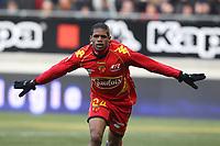 FOOTBALL - FRENCH CHAMPIONSHIP 2010/2011 - L2 - LEMANS FC v AC AJACCIO - 29/01/2011 - PHOTO ERIC BRETAGNON / DPPI - JOY LUDOVIC BAAL (FCMANS)