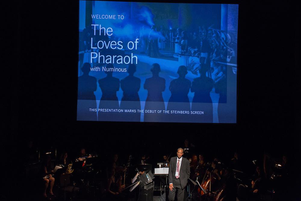 Composer Joseph C. Phillips Jr. at the start of The Loves of Pharaoh.