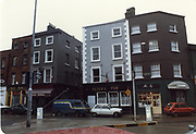 Old amateur photos of Dublin streets churches, cars, lanes, roads, shops schools, hospitals south william st, dublin civic museum, mercey hospital, south kings st, olympia dame st, toyota hiace, renault 5 fiat bambine 126 Peters Pub may 1984