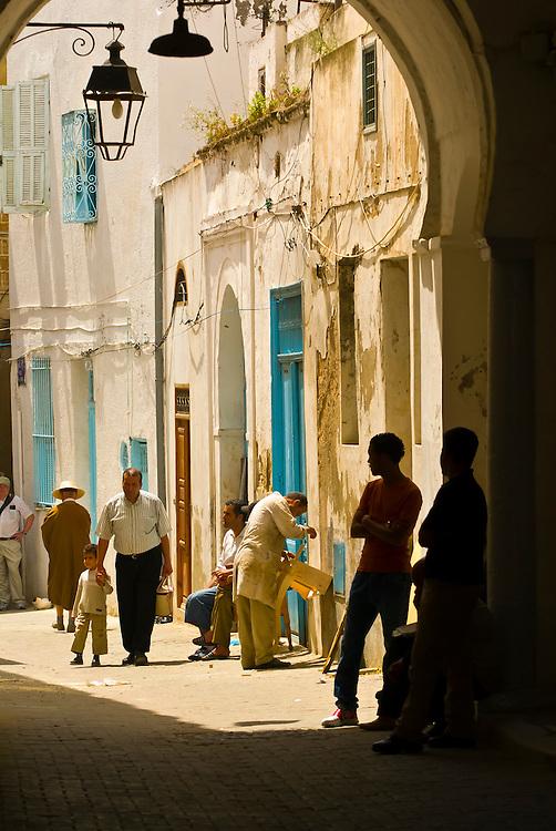 People in the street, Tunis, Tunisia